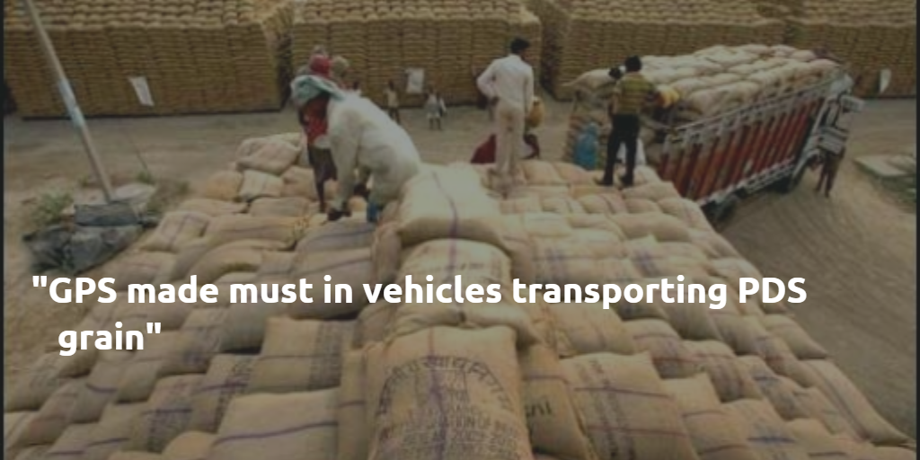 Gps Made Must In Vehicles Transporting Pds Grain