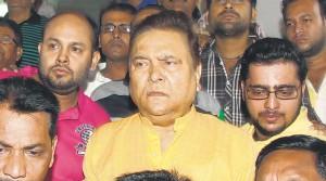 Madan Mitra leaving SSKM in Kolkata.