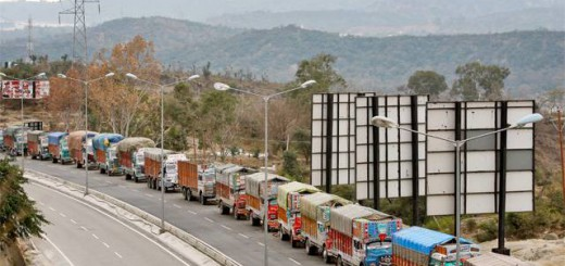 Freight rates fall on easy trucks position