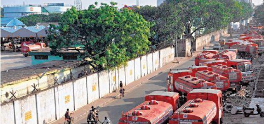 Functioning of IOC Plant Hit by Truckers' Agitation