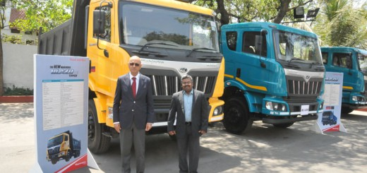 Mahindra Truck and Bus Division, at the launch of new range of heavy commercial vehicles in Hyderabad