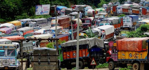 Hundreds of trucks still stranded on Assam-Tripura border