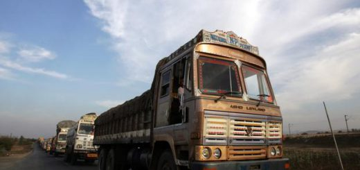 India's roads carry about 65% of the country's freight.