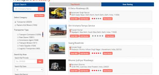 Online Transporters Directory to make your search more easy!!!