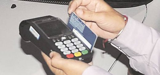 The Transport Department has started installing Point of Sale (PoS) machines at its zonal offices and the trial run of the cashless transaction system is being carried out at some places.