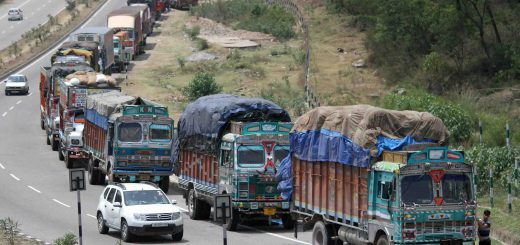 Freight rates fall on excess position of trucks