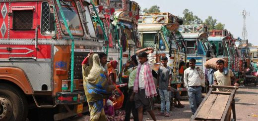 Truckers nationwide go on 2-day strike against GST, fuel hike