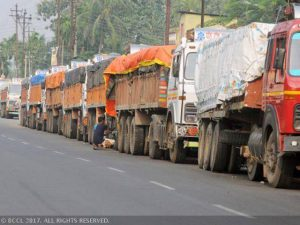 As per rules, there is a provision for a fine on transporter and driver of Rs 6,200 on the first overloaded tonne.