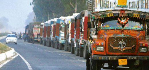 ban on the entry of trucks was today extended till further orders due to fluctuating levels of air pollution