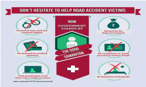 Reward people for helping road accident victims