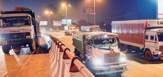 Trucks barred from entering Delhi during November 8-10