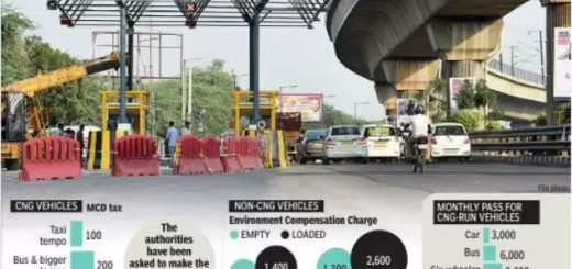 Delhi: No tags? Trucks, cabs to pay twice the toll